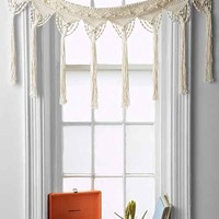 Magical Thinking Macrame Fringe Valance- Ivory One