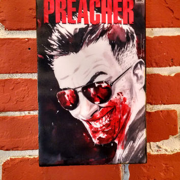 Preacher TV show AMC Special Cover 4 Distressed Wooden Plaque Sign -3 sizes