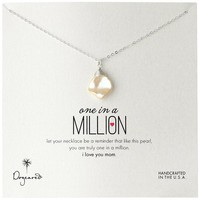 Amazon.com: Dogeared Mom Keshi Cultured Pearl One in a Million Mom Pendant Necklace