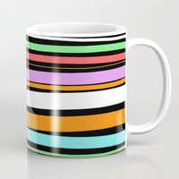 Pastel Brush Strokes Mug by PrintPix
