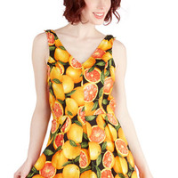 Bea & Dot Fruits Long Sleeveless Delighted All Day Romper in Fruit