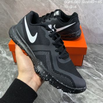 DCCK2 N817 NIKE FLEX CONTROL II Mesh breathable running shoes Black White