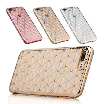 7 / 7 Plus Bling Bling Case For iPhone 7 Luxury 3D Rhinestone Diamond Mobile Phone Cover For iPhone 7 Plus Shell Coque TOMKAS