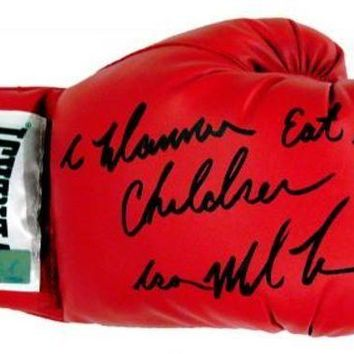 ICIKJNG Mike Tyson Signed Autographed 'I Wanna Eat Your Children' Everlast Boxing Glove (ASI COA)