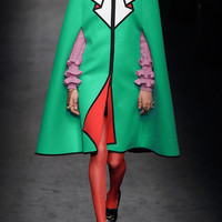 Gucci - Printed wool-felt cape