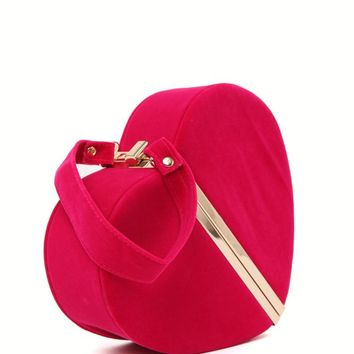 Nila Anthony Heart Shaped Clutch - Womens Handbags - Pink - One