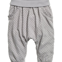 Jersey-lined Cotton Pants - from H&M