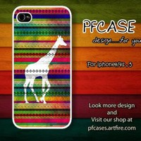 Giraffe on aztec For Iphone 44s 5 Samsung S2S3S4 by pfcase on Zibbet