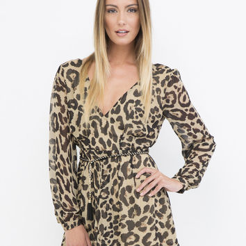 WILD THINGS LEOPARD ROMPER