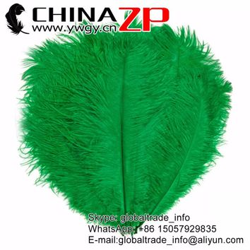 Leading Supplier CHINAZP Factory 25-30cm(10-12inch) Length 200pcs.lot Kelly Green Ostrich Plumage Feather Centerpieces