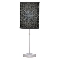 Silver and Black Table Lamp