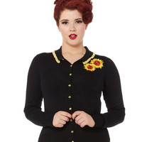 Voodoo Vixen Courtney Sunflower Cardigan Sweater