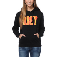 Obey Girls Easy Living Black Pullover Hoodie at Zumiez : PDP