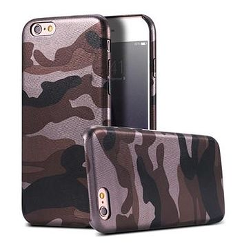 Brown Camo Military Camouflage Phone Case For iPhone 7 7Plus 6 6s Plus 5 5s SE