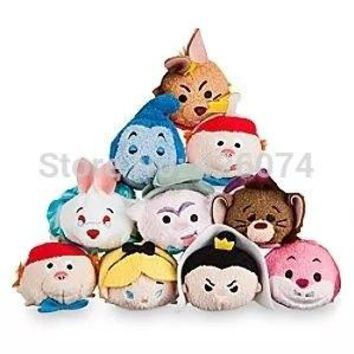 Tsum Tsum Alice in Wonderland Queen of Hearts Tweedle Dum Caterpillar Cheshire Cat Plush Kids Stuffed Toys Smartphone Cleaner