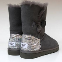 Swarvoski crystal Ugg Boots by Lenorasboutique on Etsy