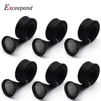 Lot 6 Exceepand Tangle Free Casting Fishing Rod Sleeve 170 cm 25 mm width Baitcasting Fishing Rod Cover Pole Sock Protector