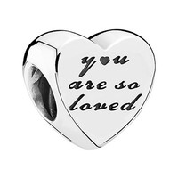 Women's PANDORA 'You Are So Loved' Charm - Silver