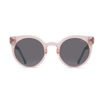 Komono - Lulu Rose Quartz Sunglasses / Polycarbonate Solid Smoke Lenses