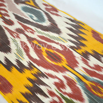 ikat on etsy SilkWay ikat fabric, Etsy table by multicolored on  from runners the