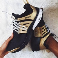 NIKE Air Presto Gold Woman Men Running Sneakers Sport Shoes