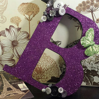 Kawaii Glitter Decorated Initial - Choose Your Letter