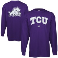 adidas TCU Horned Frogs Relentless Long Sleeve T-Shirt - Purple