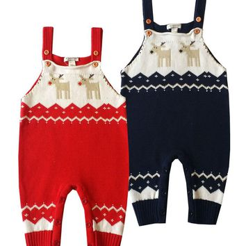 Baby Knitting Rompers Cute Sweater Overalls Newborn Baby Clothes Spring Winter Baby Girl Boy Sleeveless Romper Jumpsuit