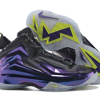 HCXX B272 Nike Air Zoom Chuck Posite Charles Barkley Actual Combat Basketball Shoes Purple Black