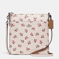 COACH Messenger Crossbody With Floral Bloom Print