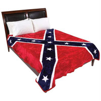 Wyndham House Rebel Flag Blanket - with Free Battle Flag