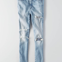 AEO Denim X Super Hi-Rise Jegging, Torn Up