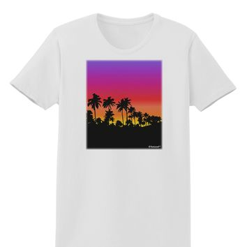 Palm Trees and Sunset Design Womens T-Shirt by TooLoud