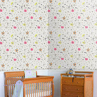 Flowers wall pattern self adhesive vinyl wallpaper removable decal sticker nursery colorful mb046