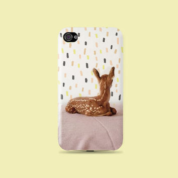 Waiting for you Deer Plastic Hard Case - iphone 5 - iphone 4 - iphone 4s - Samsung S3 - Samsung S4 - Samsung Note 2