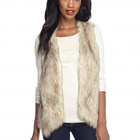 New Directions® Faux Fur Sweater Vest - Belk.com