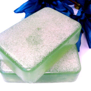 Natural Tea Tree Glycerin Soap -- Handmade Vegan Sulfate Free Glycerin Soap