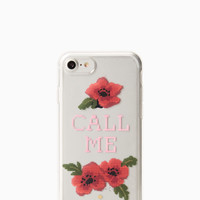 needlepoint call me iphone 7/8 case | Kate Spade New York