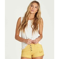 Billabong Women's Buttoned Up Denim Shorts | Gold Dust