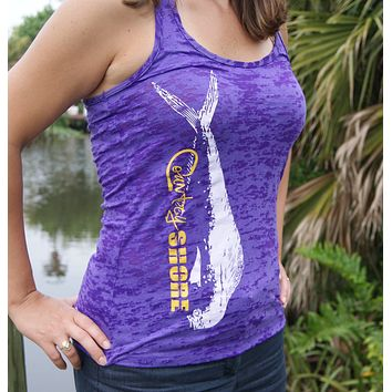 Burnout Purple Mahi Tank Top