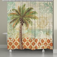 Spice Palm Shower Curtain