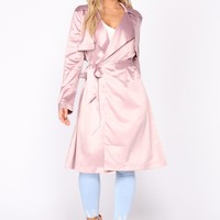 That New New Satin Jacket - Dusty Pink