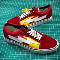 Revenge x Storm Pop up Store Red White Yellow Sneakers