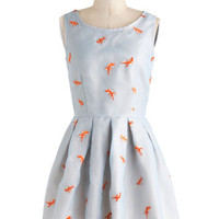 Nishe Critters Mid-length Sleeveless Fit & Flare Good As Goldfish Dress