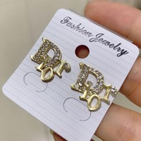 8DESS Dior Women Fashion Diamonds Stud Earring Jewelry
