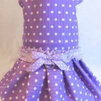 RockinDogs Lavender and White Polka Dot Dog Dress