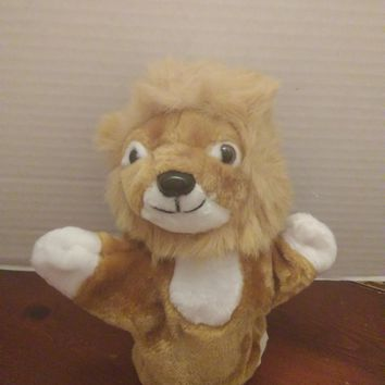 vintage midwestern home products male lion hand puppet plush