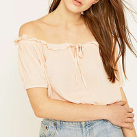 Staring at Stars Gauzy Off-The-Shoulder Top - Urban Outfitters