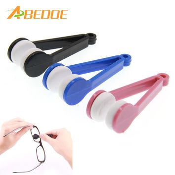 ABEDOE Portable Multi-function Glasses Wipe Clamp Clean Leave No Trace Spectacle Cleaning Glasses Wiper Cloth Clean Wipe Tools