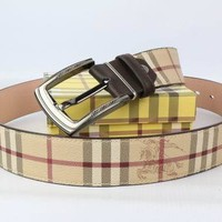 BURBERRY Woman Fashion Smooth Buckle Belt Leather Belt